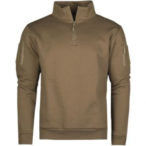 Mil-Tec Tactical Sweatshirt with Zipper Dark Coyote