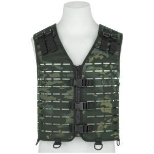 Mil-Tec Laser Cut Carrier Vest Multitarn Black