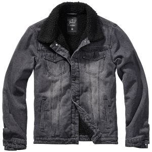 Brandit Sherpa Denim Jacket Black/Black