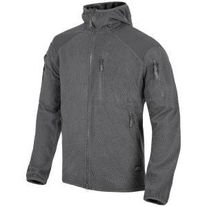 Helikon Alpha Hoodie Jacket Grid Fleece Shadow Grey