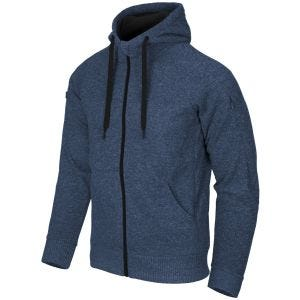 Helikon Covert Tactical Hoodie Full Zip Melange Blue