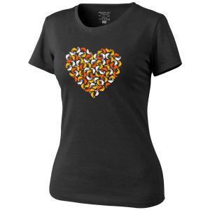 Helikon Women's T-Shirt Chameleon Heart Black