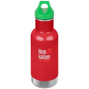 Kid Kanteen 355ml Classic Insulated Bottle Loop Cap Mineral Red
