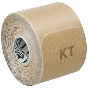 "KT Tape Consumer Cotton Gentle Precut 10"" Beige"