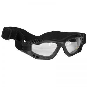 Mil-Tec Commando Goggles Air Pro Clear Lens Black Frame