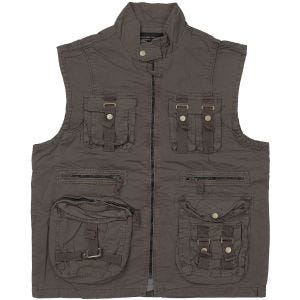Mil-Tec Vintage Survival Vest Prewashed Black