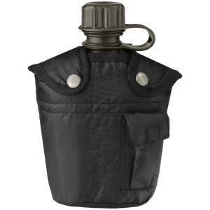 Mil-Tec Canteen with Cover 1 Litre Black