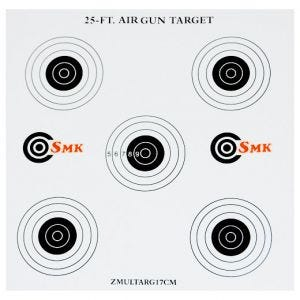 SMK 25ft 17cm Card Targets (100 Pack)