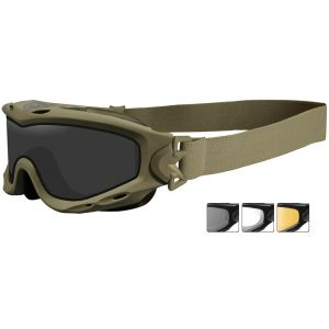 Wiley X Spear Goggles - Smoke Grey + Clear + Light Rust Lens / Tan Frame