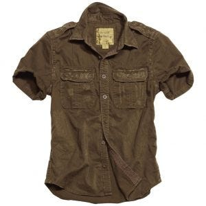 Surplus Raw Vintage Short Sleeve Shirt Brown
